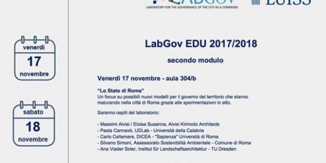 Second session for LabGov EDU 2017/2018