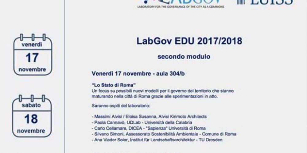Second session for LabGov EDU 2017/2018