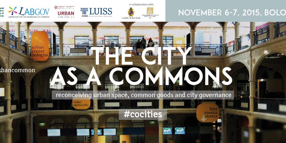 «The City as a Commons» conference in Bologna. Or: phenomenological flânerie as urban commoning pedagogy?
