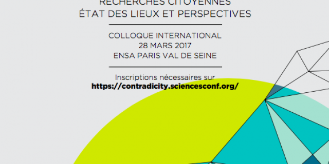 """Exploring Urban Contradictions in Collaborative Housing at the first International Conference """"Contradictions Urbaines"""", Paris"""