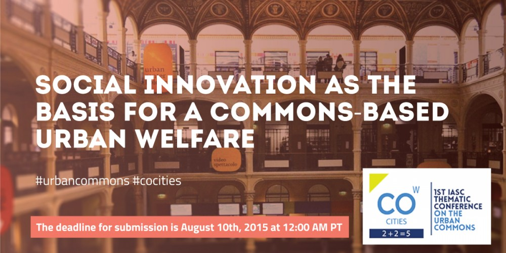 The City as a Commons: Social innovation as the Basis for a Commons-Based Urban Welfare